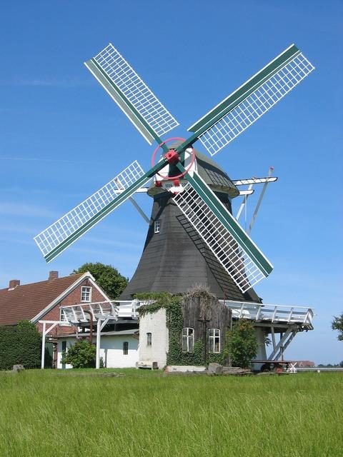 Windmill north sea building, architecture buildings.