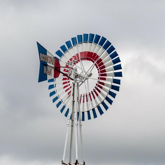 Windmill wind pump, science technology.