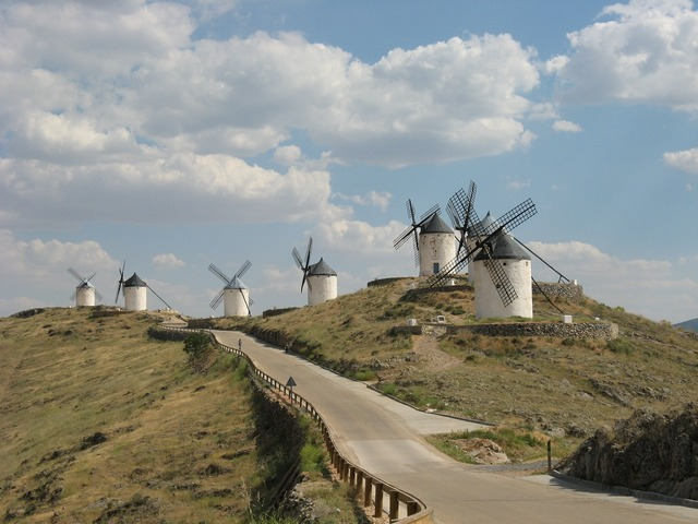 Windmills don quixote windmill, nature landscapes.