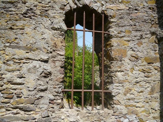 Window bars wall.