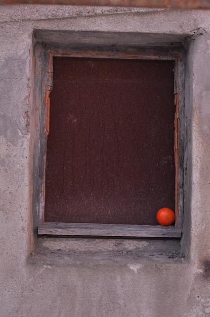 Window building orange, architecture buildings.
