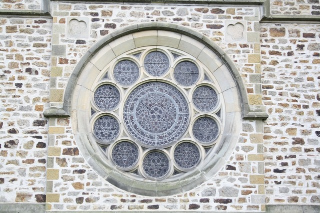 Window church rosette, religion.