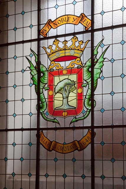 Window coat of arms european.
