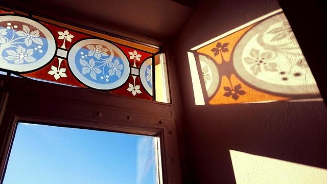 Window liberty art nouveau, architecture buildings.