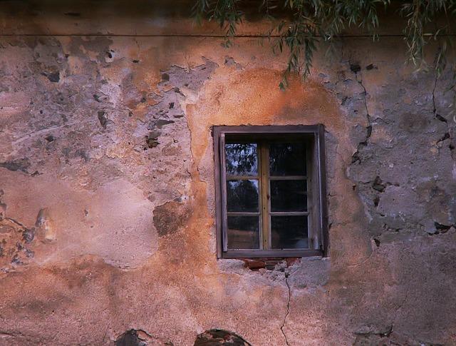 Window old window wall.
