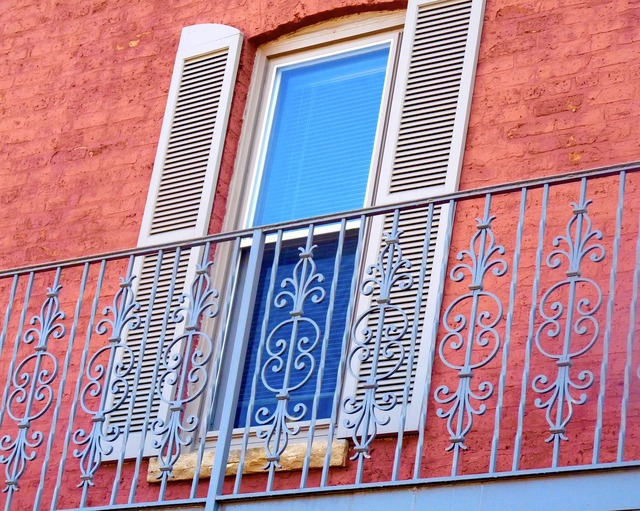 Window shutters balcony, architecture buildings.