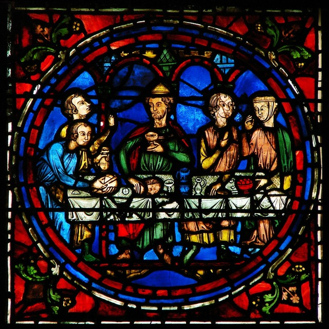 Window stained glass cathedral of chartres, religion.
