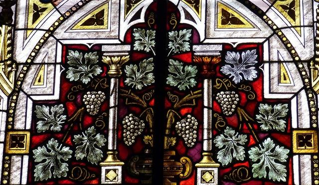 Window stained glass church window, religion.