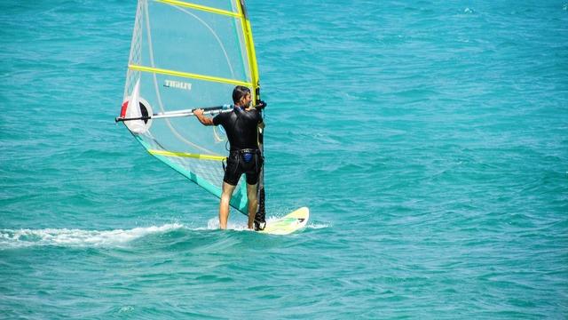 Windsurfing sport sea, sports.
