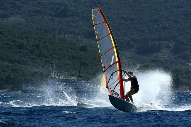 Windsurfing water sports wind.
