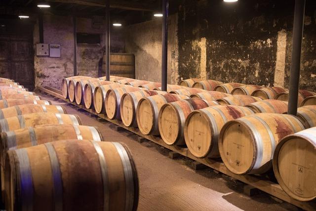 Wine beaujolais cellar.