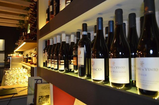 Wine bottle alcohol.