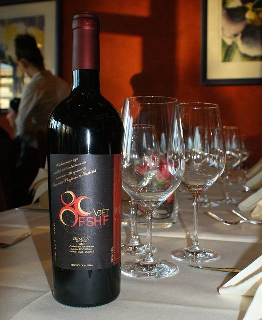 Wine bottle glasses, food drink.