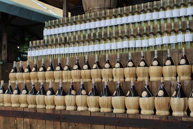 Wine bottles of wine enoteca.