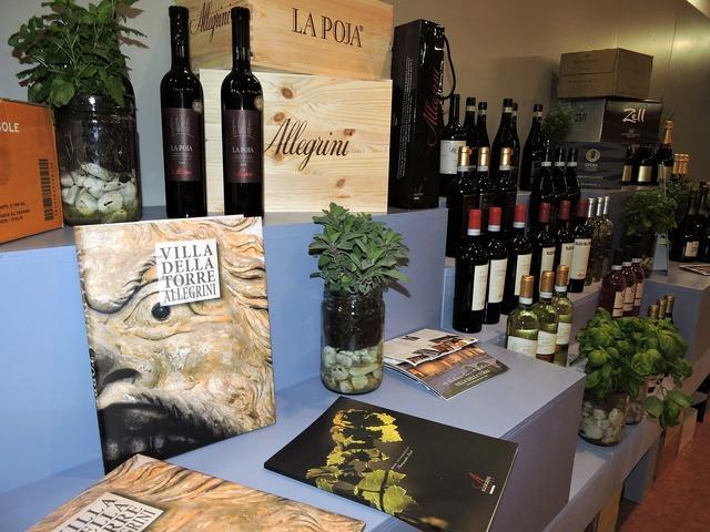Wine exposure shelf.