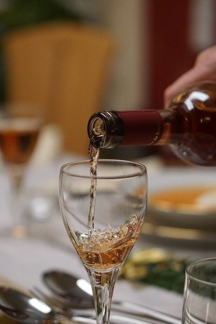 Wine glass pour a, food drink.