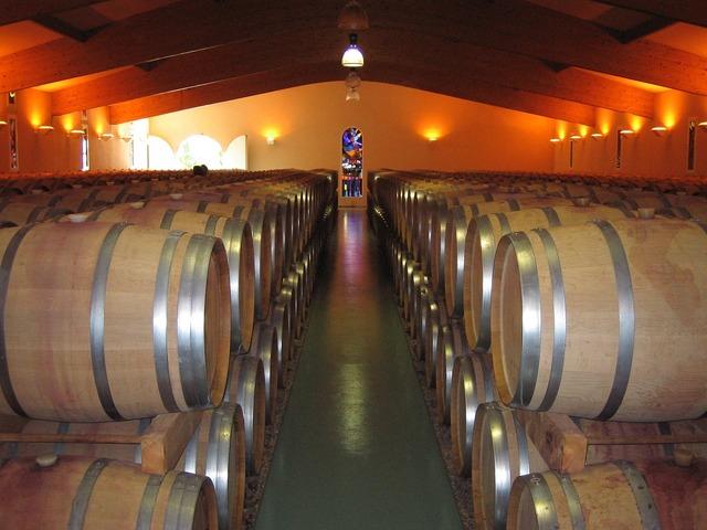Wine keller barrels.