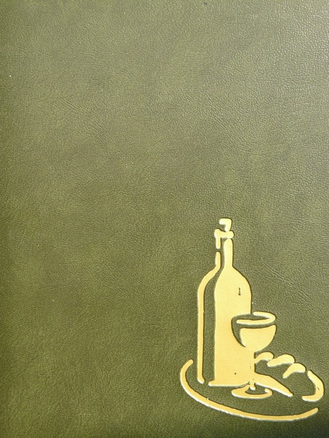 Wine list menu map.