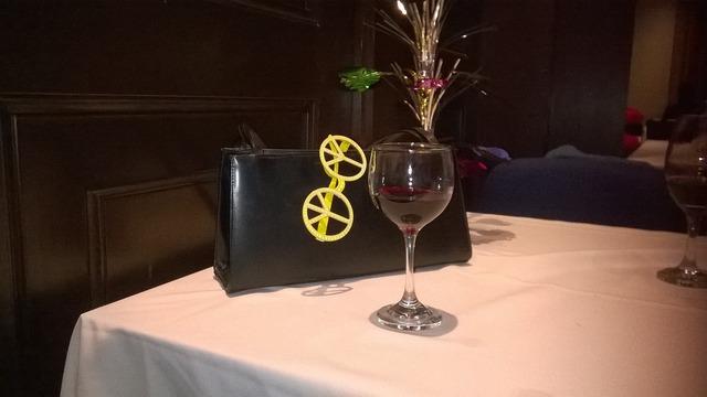 Wine party toast.