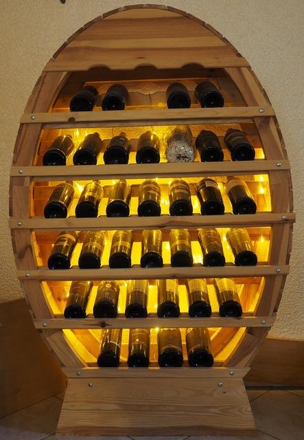 Wine rack wine shelf, food drink.