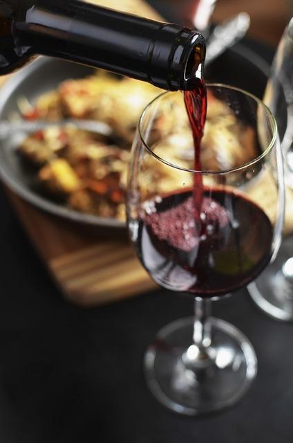 Wine red bottle, food drink.
