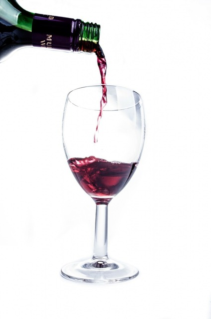 Wine red glass, food drink.