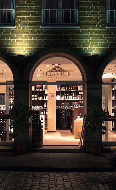 Wine romantic evening, architecture buildings.