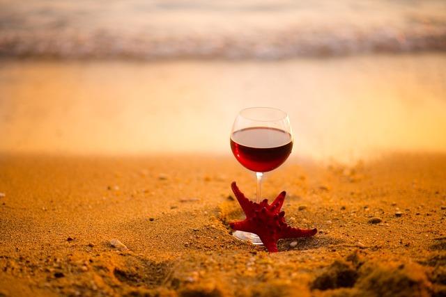 Wine sea star, travel vacation.