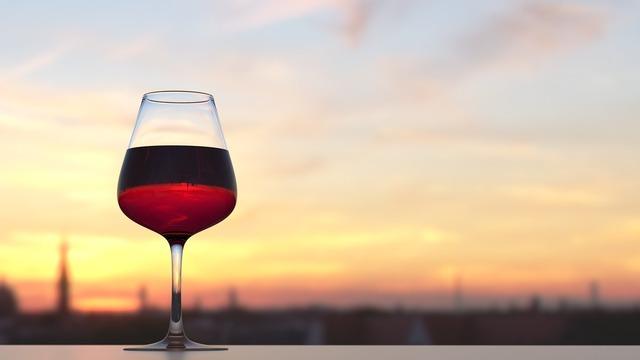 Wine sunset summer, travel vacation.