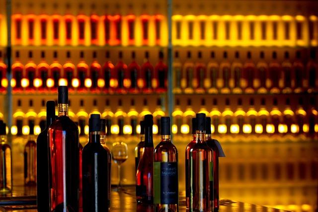Wines bottles orange, food drink.