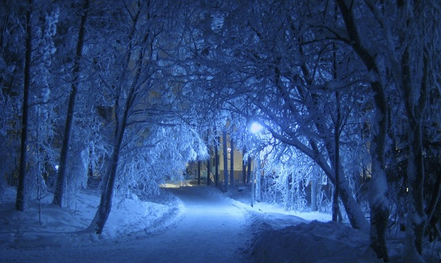 Winter night blue.