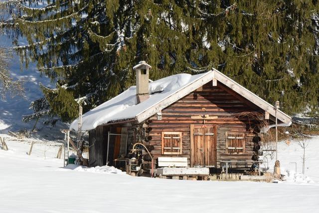 Winter snow hut.