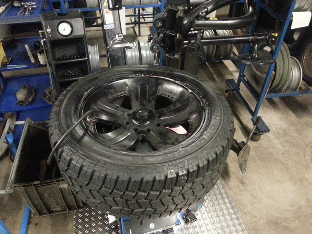 Winter tires all terrain vehicle profile.