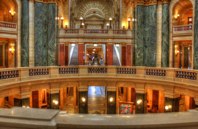 Wisconsin capitol chambers, architecture buildings.