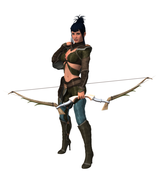 Woman arch archery, beauty fashion.