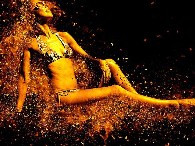 Woman bikini sensual, beauty fashion.