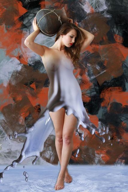 Woman girl naked, beauty fashion.