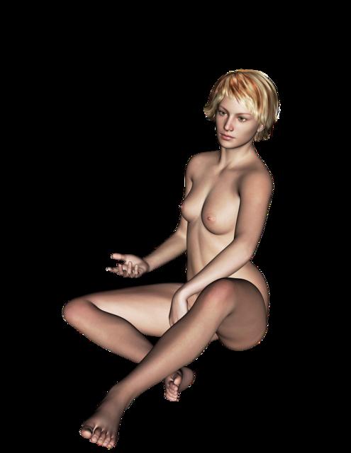 Woman naked sexy, beauty fashion.