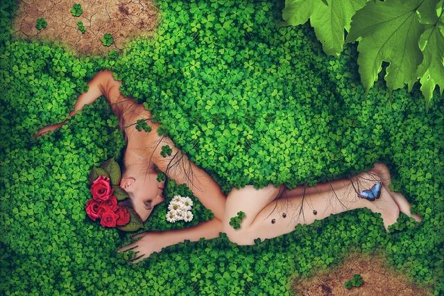 Woman nature environment, beauty fashion.