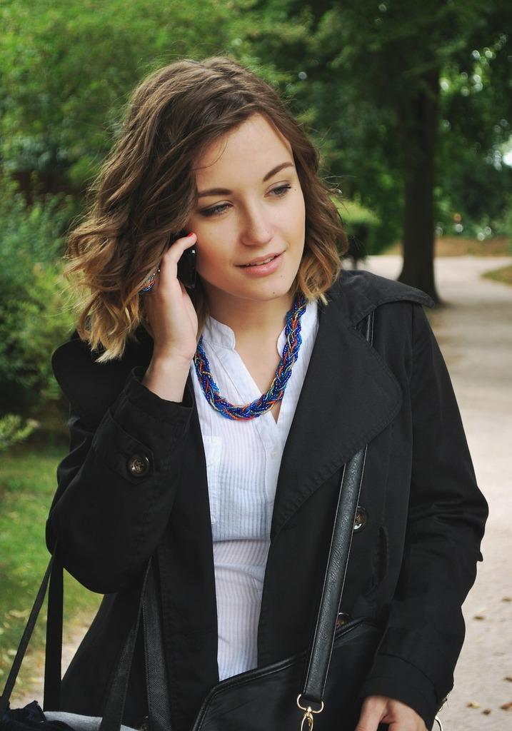 Woman phone advertising, beauty fashion.