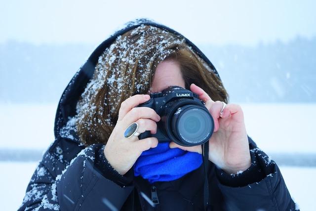 Woman snowy frosty, beauty fashion.