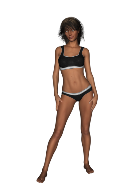 Woman underwear model, beauty fashion.