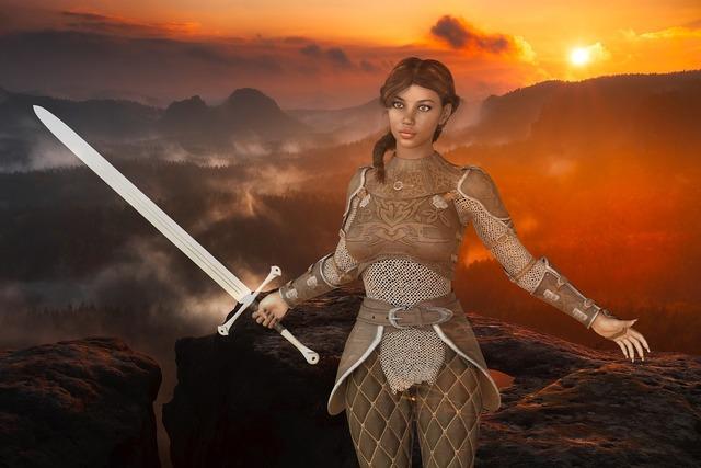 Woman warrior amazone, beauty fashion.