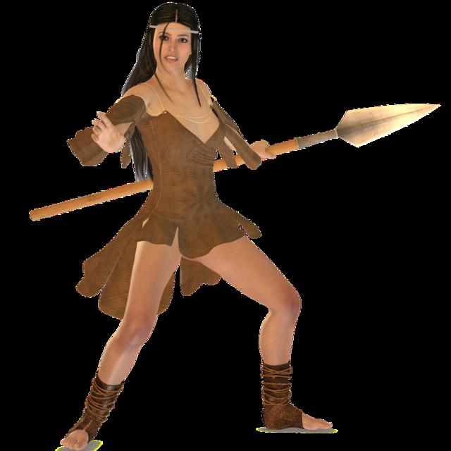 Woman warrior tube, beauty fashion.