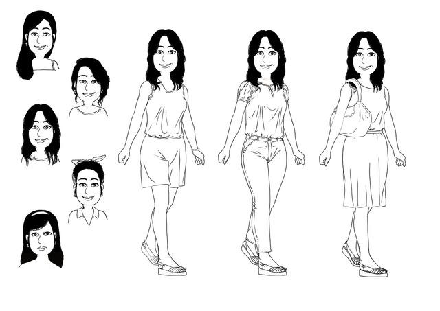 Women character fashion, beauty fashion.