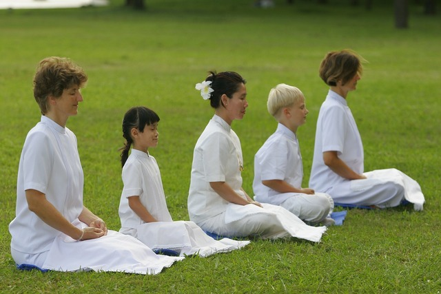Women family buddhist, people.