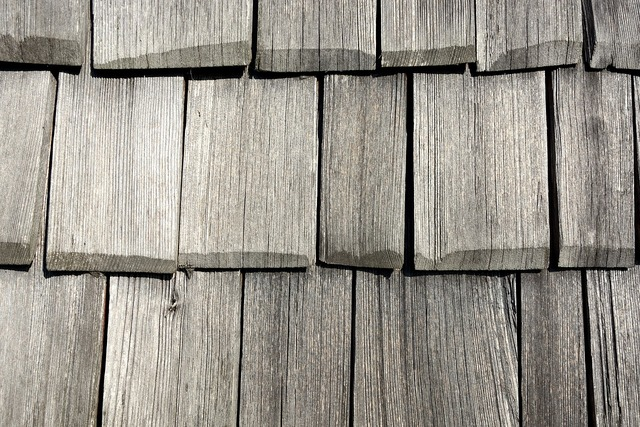 Wood shingle facade cladding, backgrounds textures.