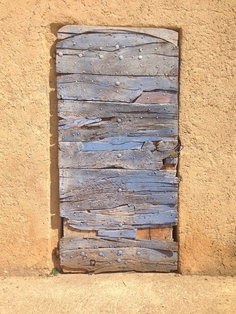 Wooden french door blue architecture, architecture buildings.