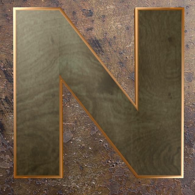 Wooden letter wood metal.