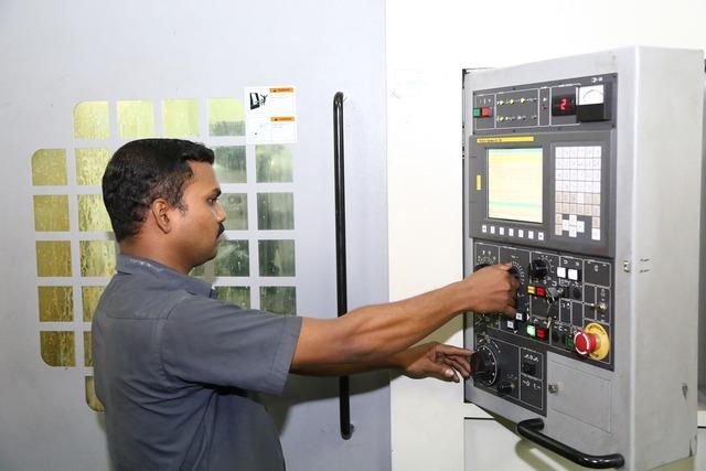 Worker industrial machines, industry craft.
